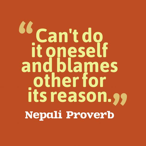 Nepali wisdom about reason.