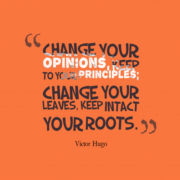 Victor Hugo quote about change.