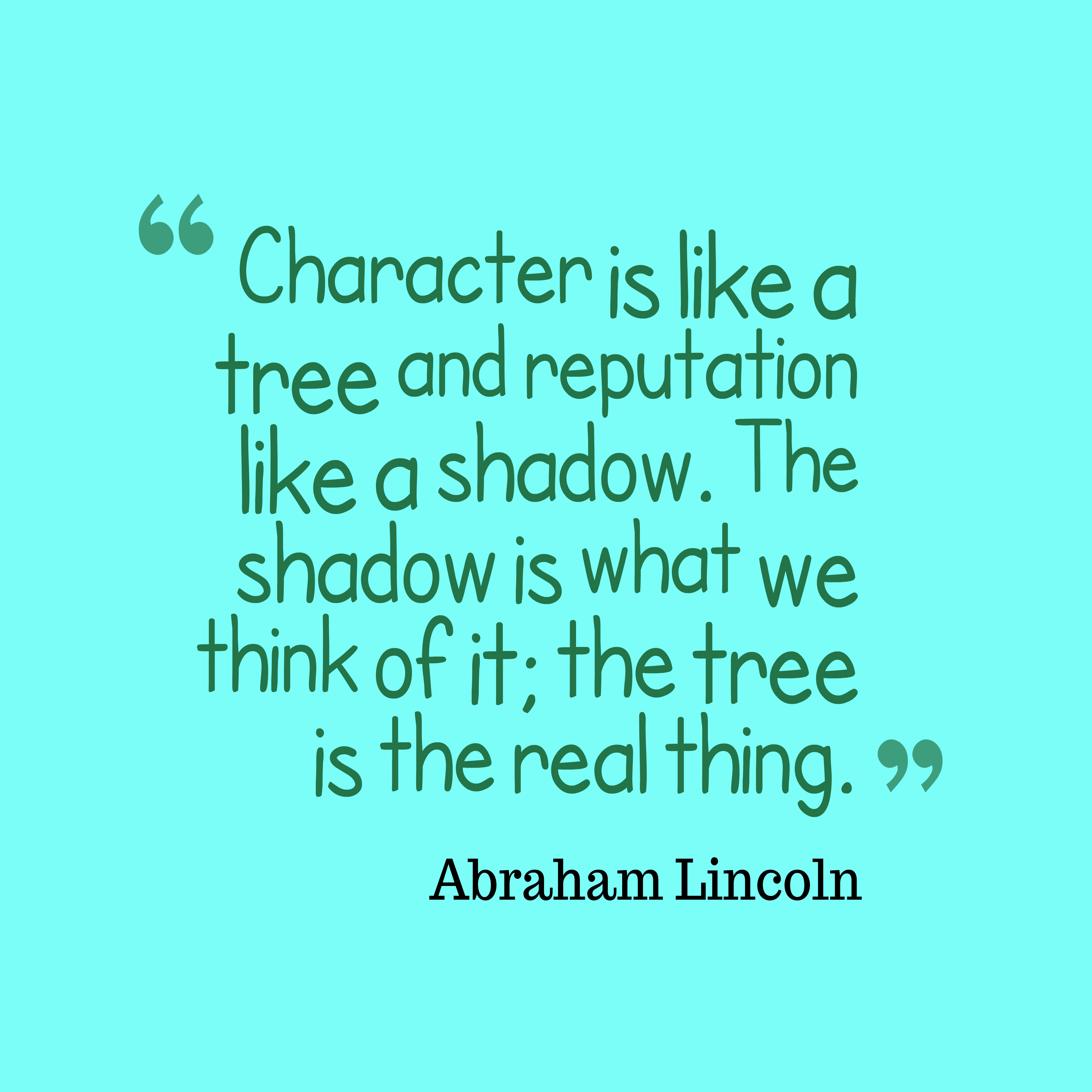 Quotes About Character Picture Abraham Lincoln Quote About Character Quotescover
