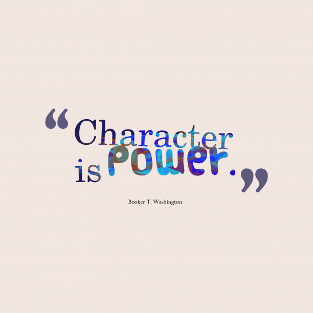 Booker T. Washingtonquote about power.