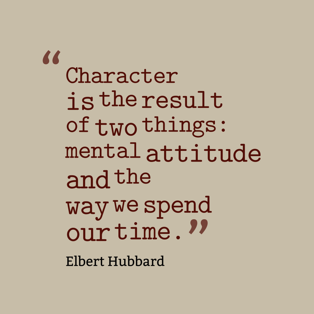 Elbert Hubbard quote about attitude.