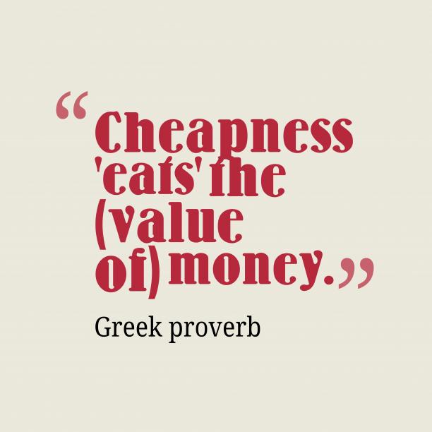 Greek wisdom about money.