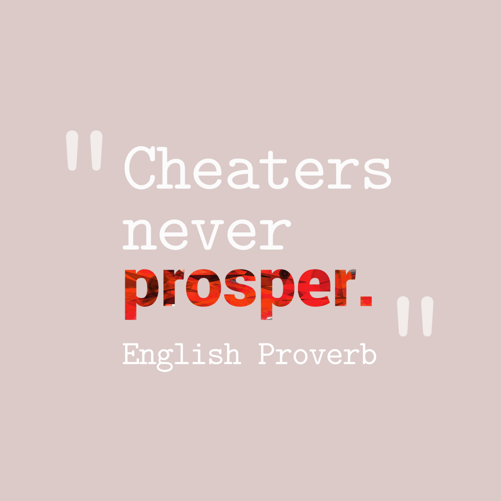 English proverb about success.
