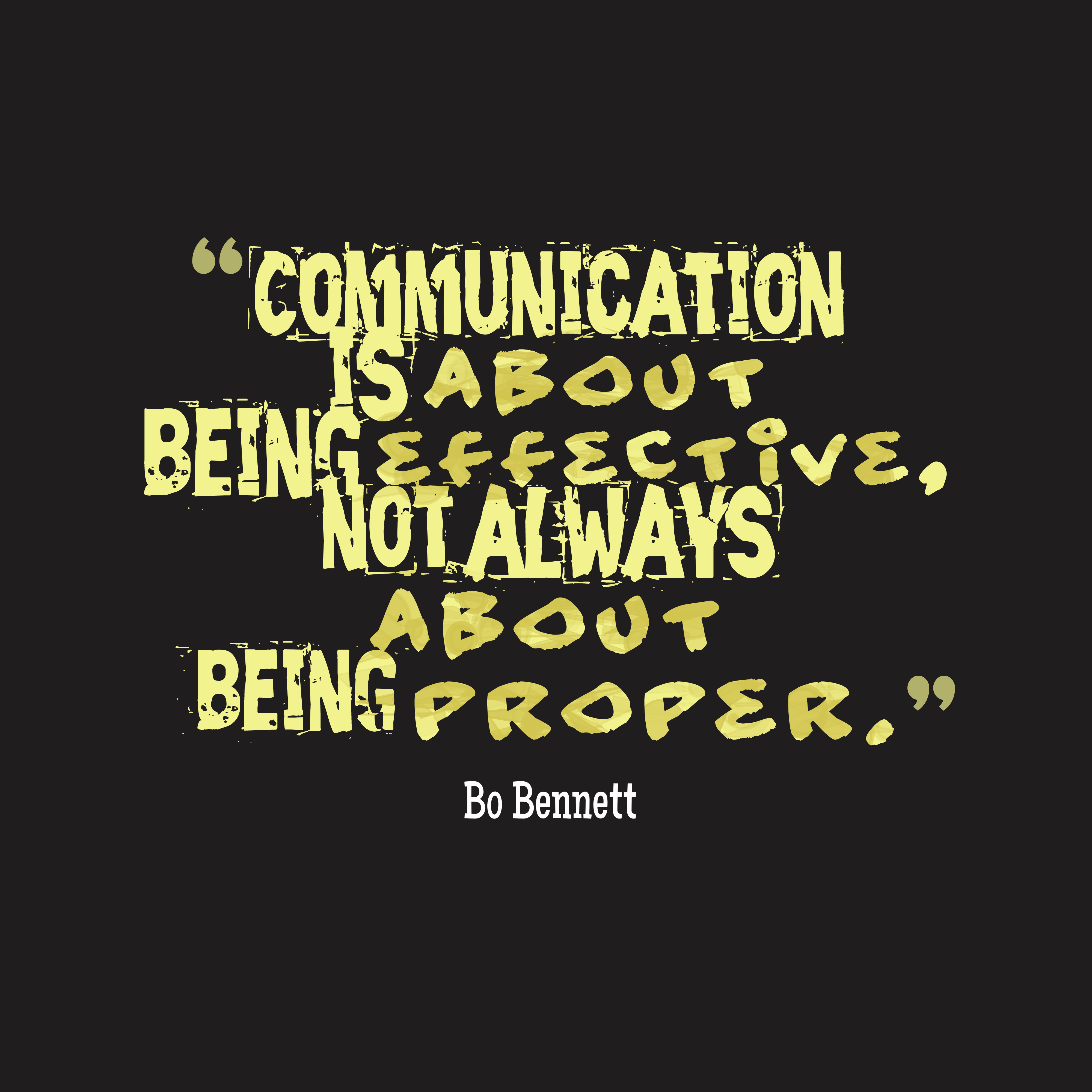 Quotes About Love Relationships: Picture » Bo Bennett Quote About Comunication