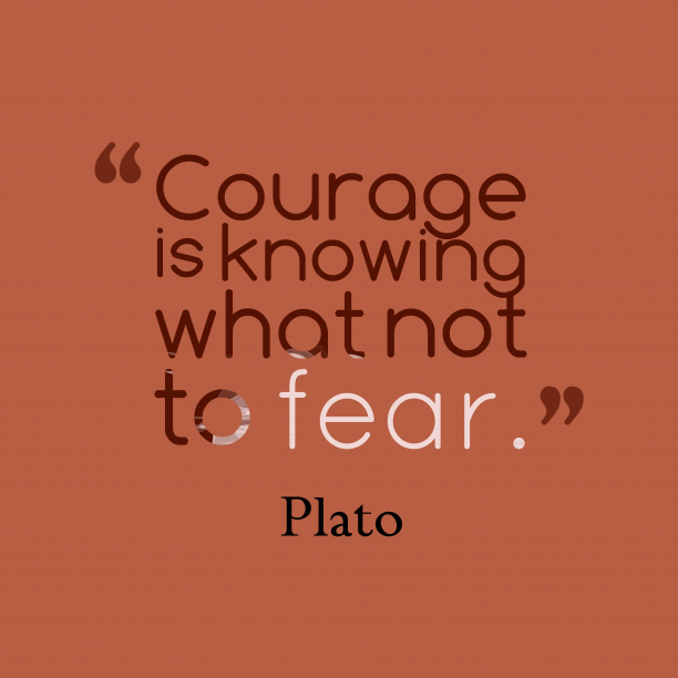 Plato 's quote about . Courage is knowing what not…