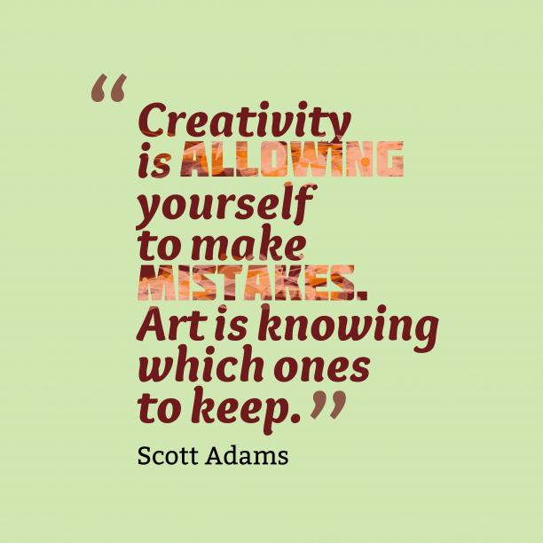Scott Adams quote about art.