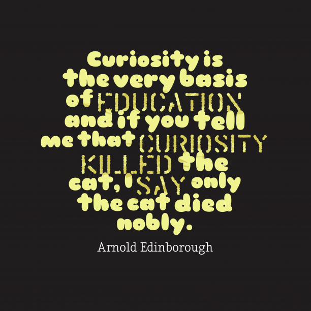 Curiosity is the