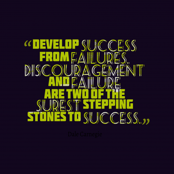 Dale Carnegie quote about success.