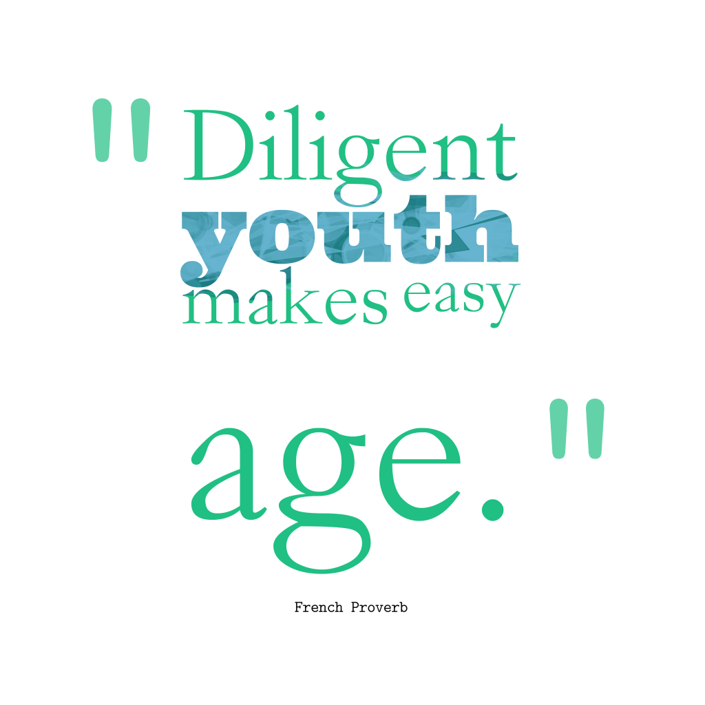 French proverb about diligent.