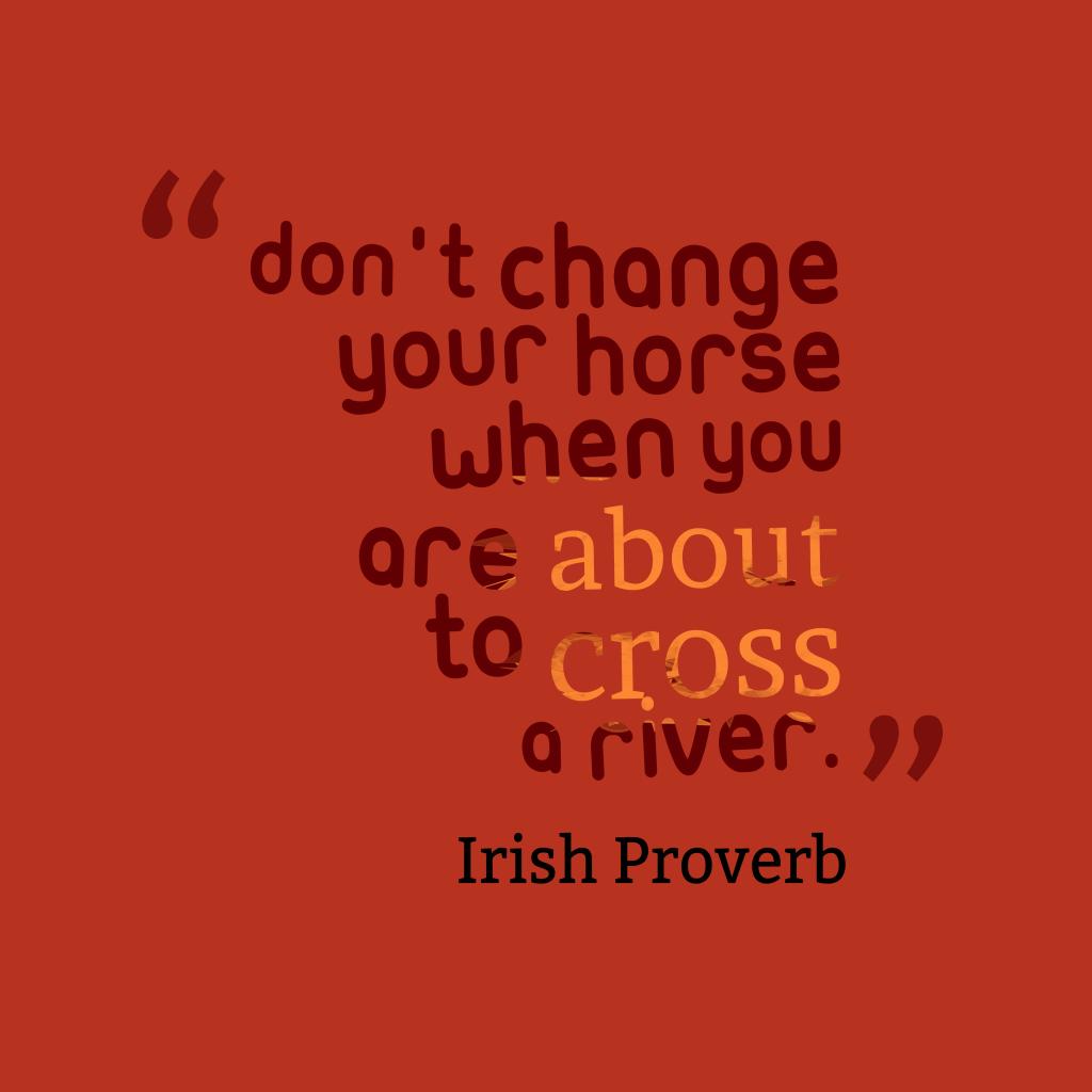 Irish proverb about fight.