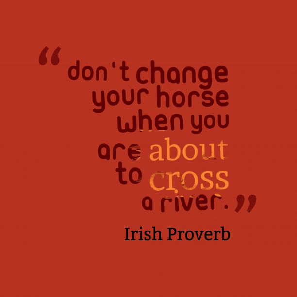 Irish proverb about fight.