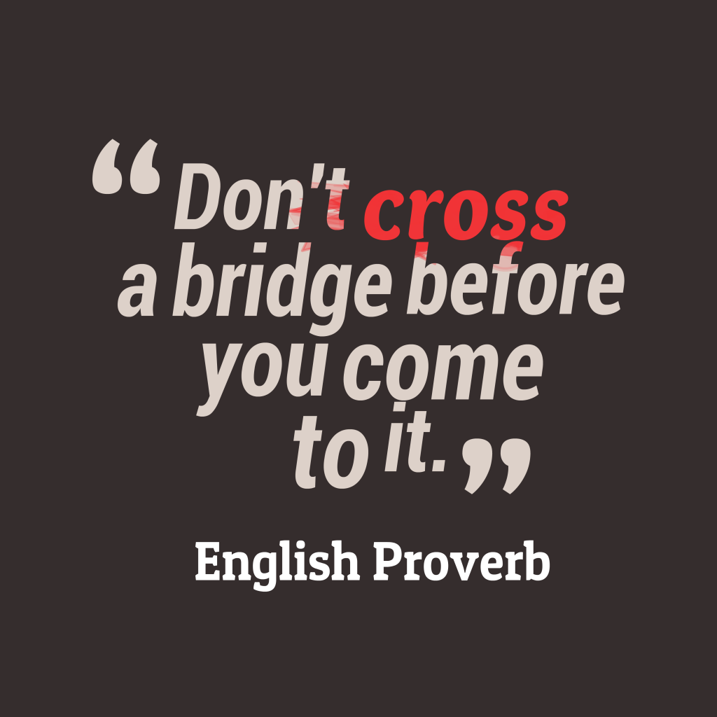 English proverb about focus.