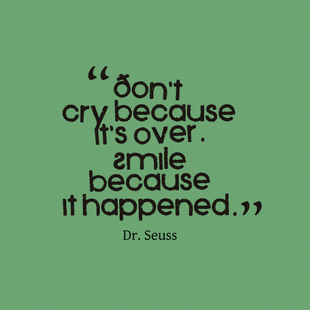 Dr. Seuss quote about smile.