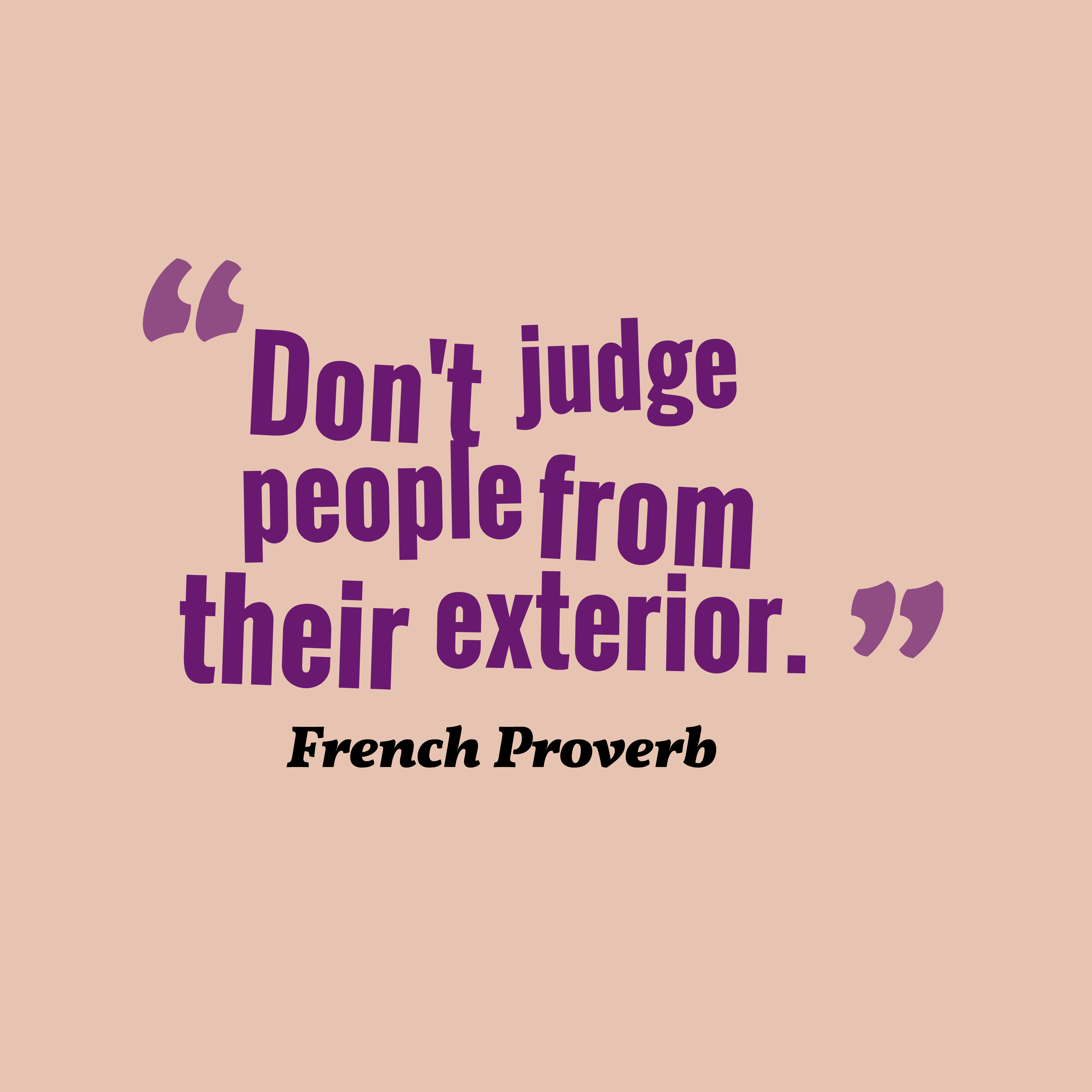 French Proverb About People