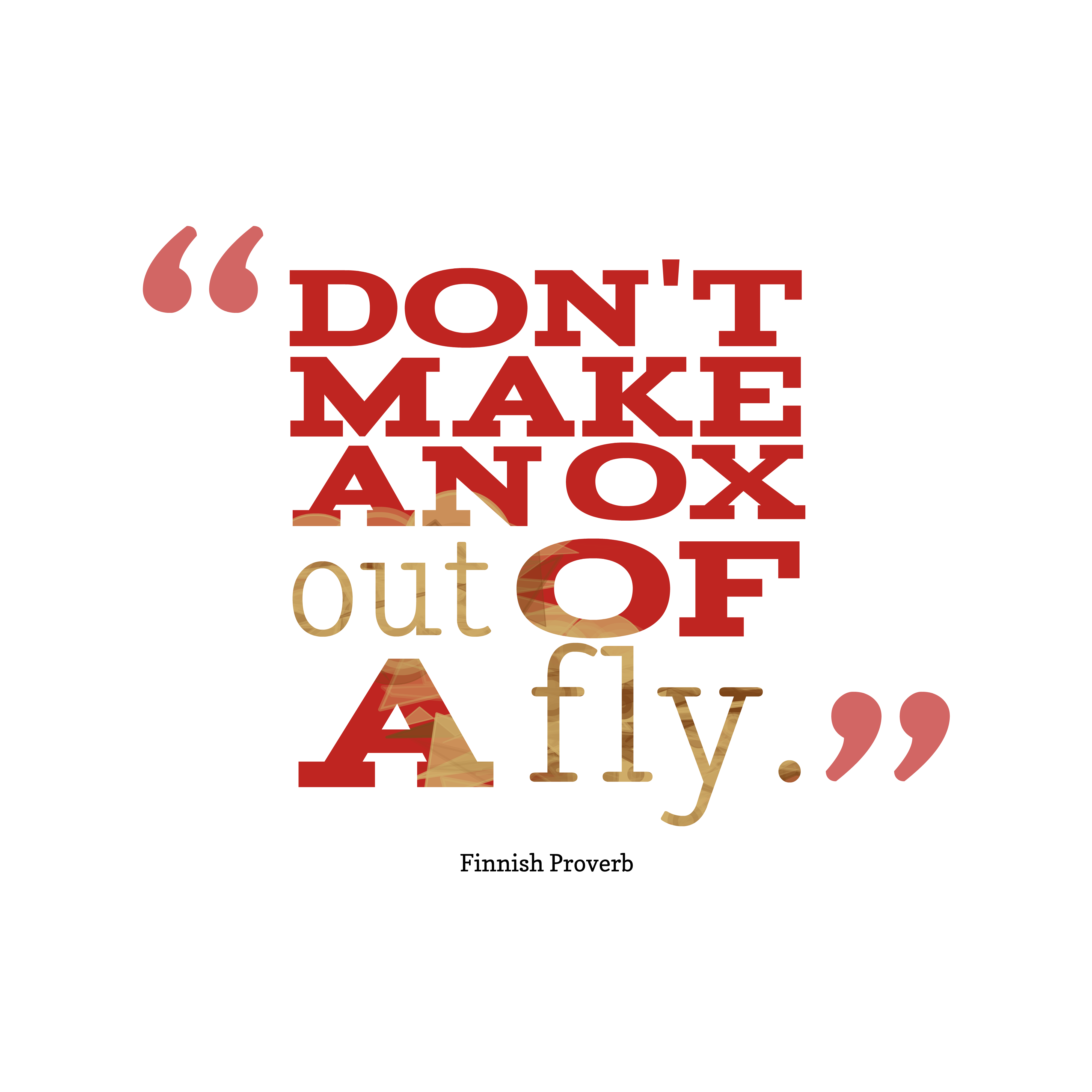 Quotes image of Don't make an ox out of a fly.