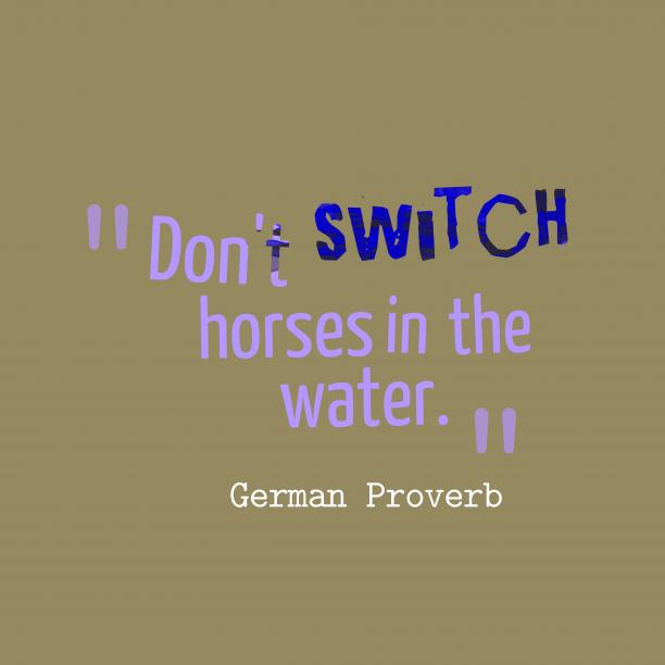 German wisdom about begin.