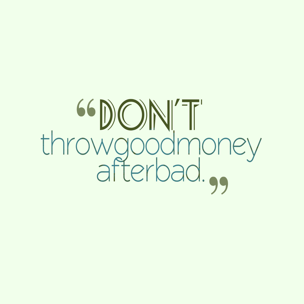 Croatian proverb about money.