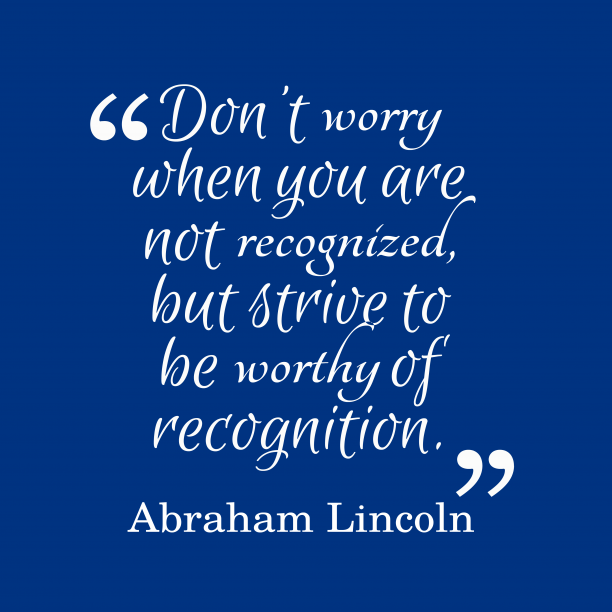 Abraham Lincoln quote about ambition.