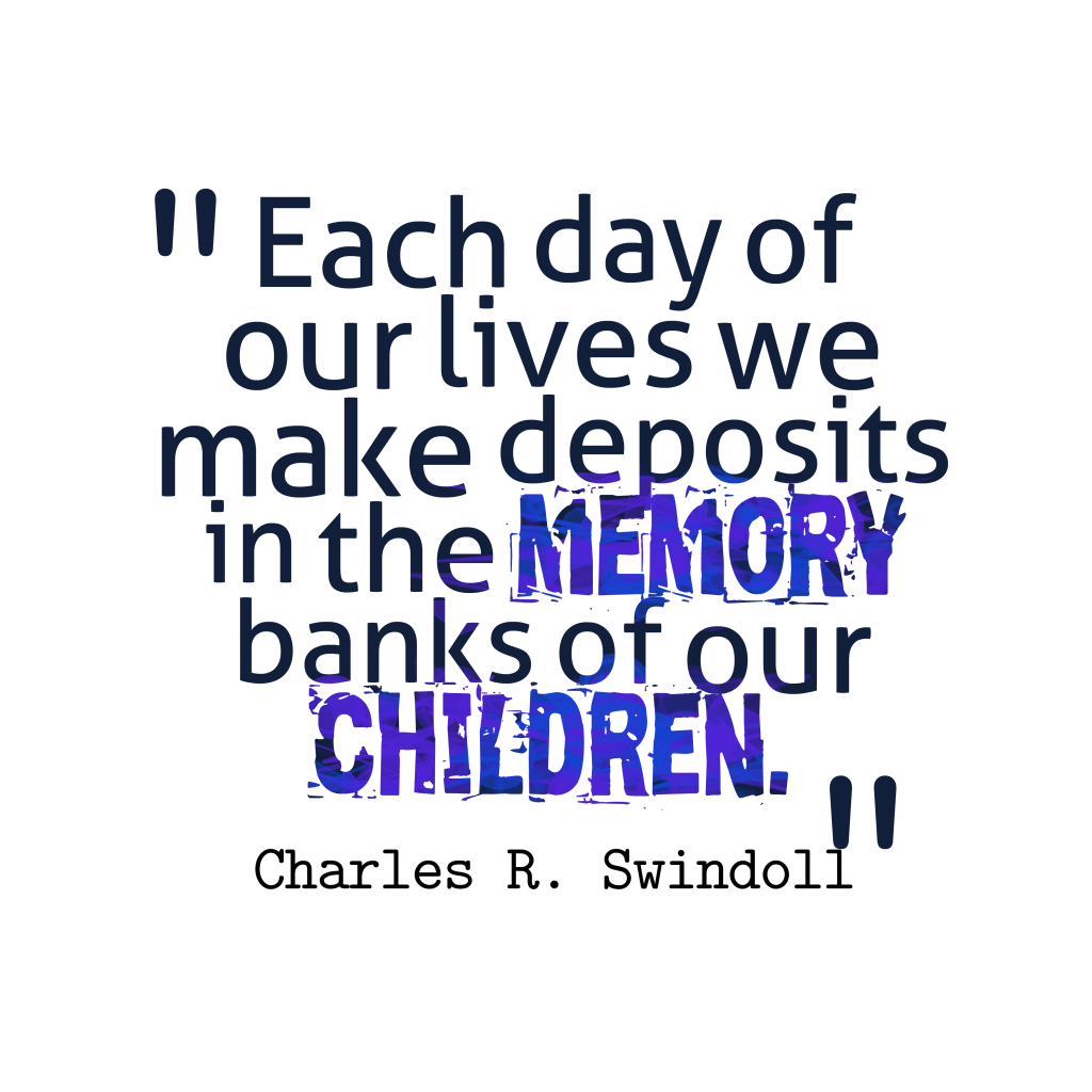 Charles R. Swindoll quote about children.