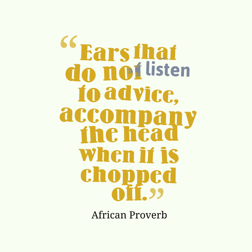 African proverb about learn.