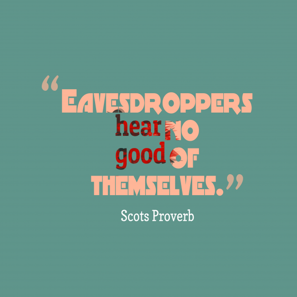Scots proverb about comunication.