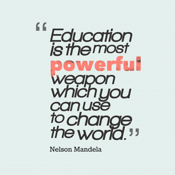 Nelson Mandela quote about change.