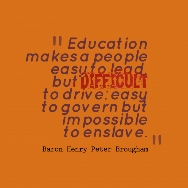 Education makes a