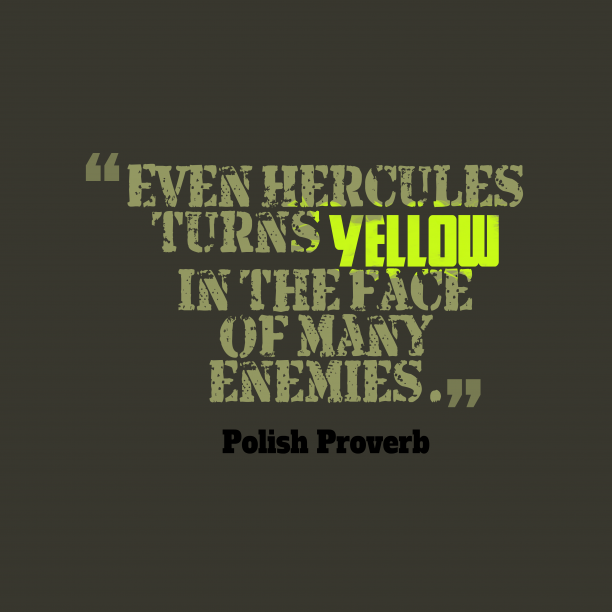 Polish Wisdom About Enemies
