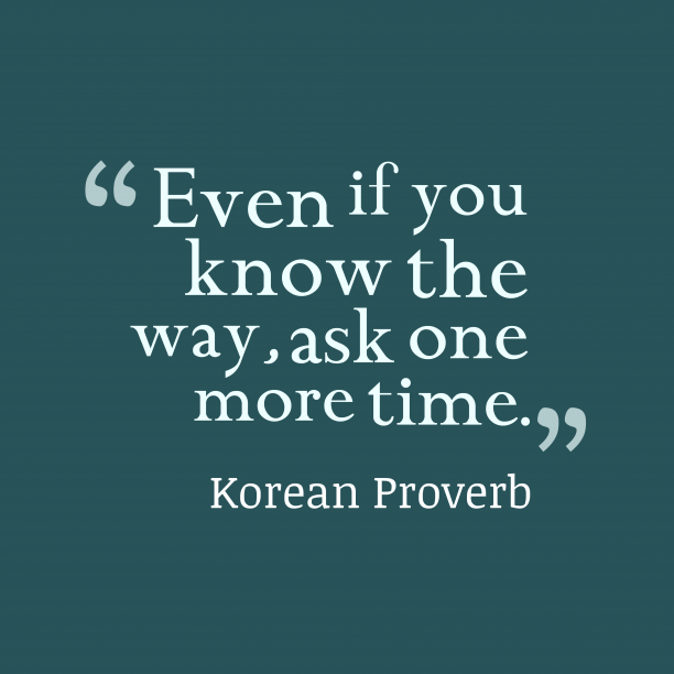 Korean wisdom about overconfident.