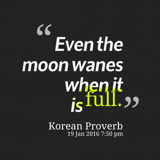 Korean wisdom about expectation.