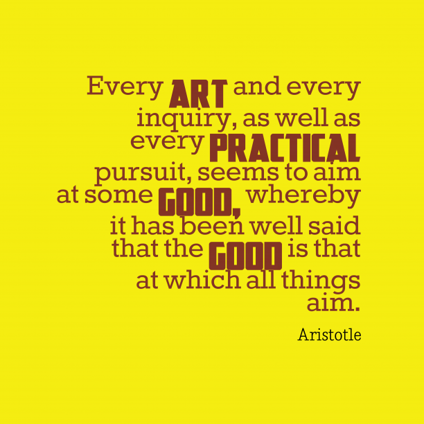 Aristotle quote about goals.