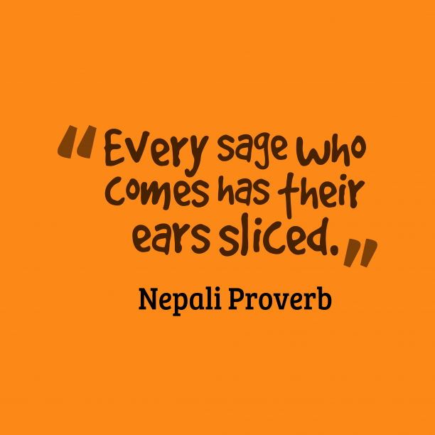Nepali proverb about person.
