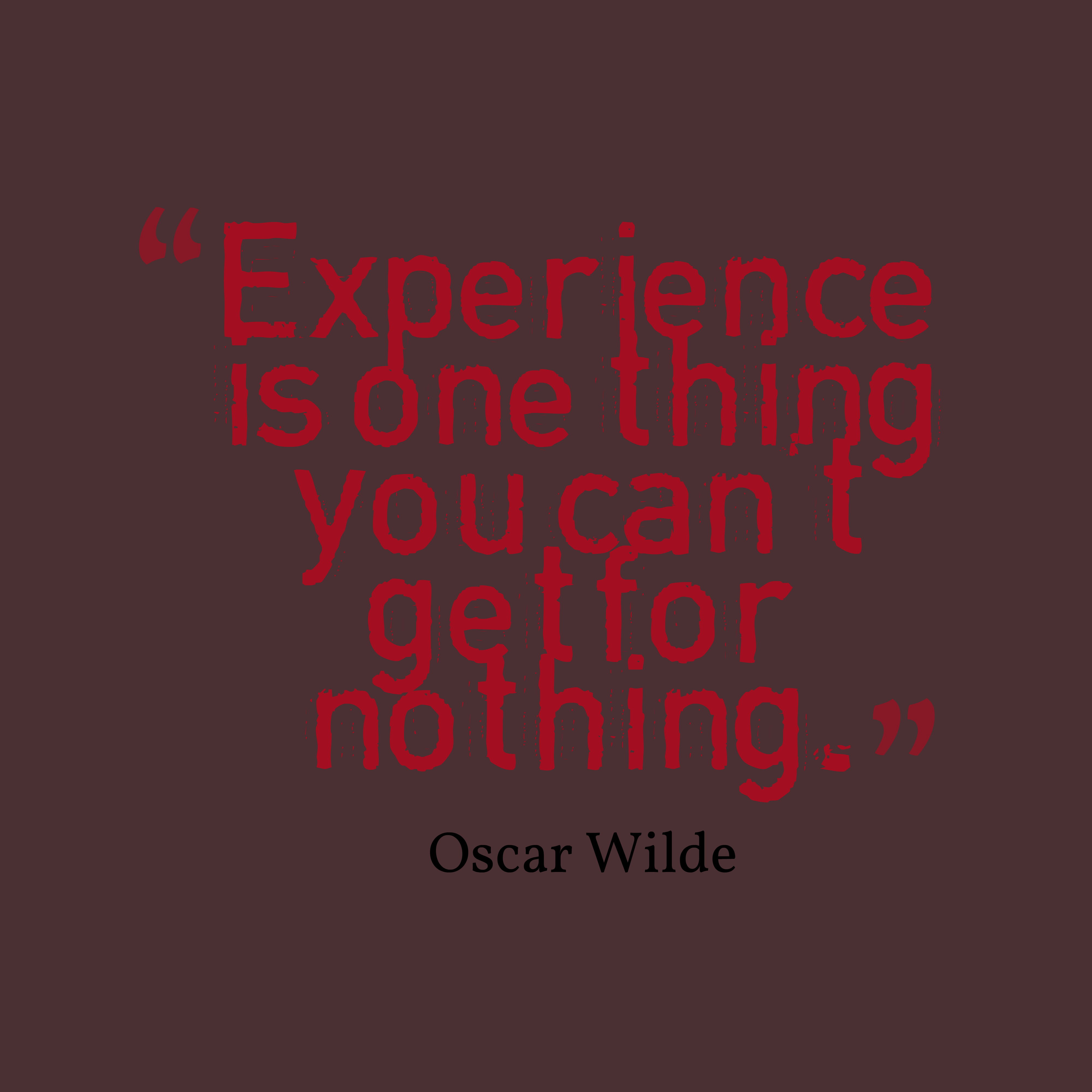 Oscar Wilde Quote About Experience
