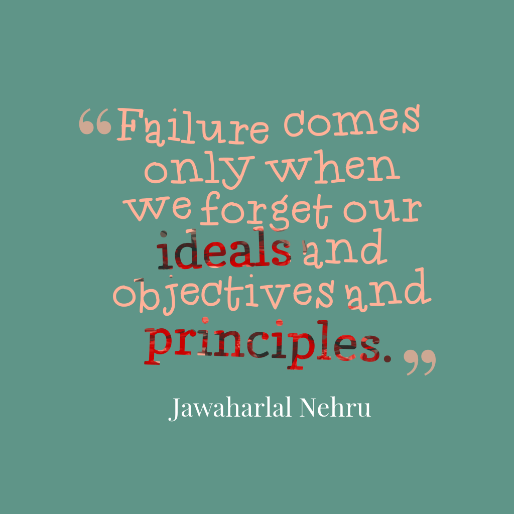 Jawaharlal Nehru quote about failure.
