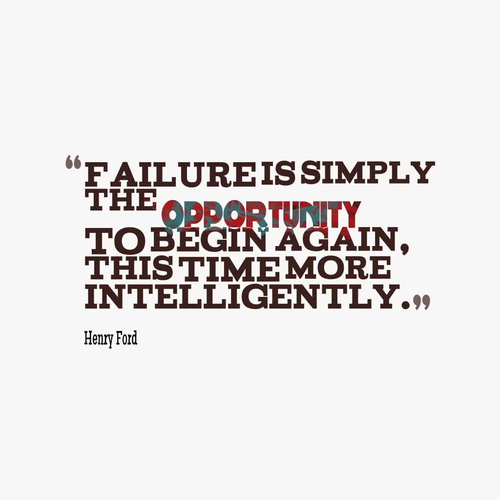 Henry Ford quote about failure.