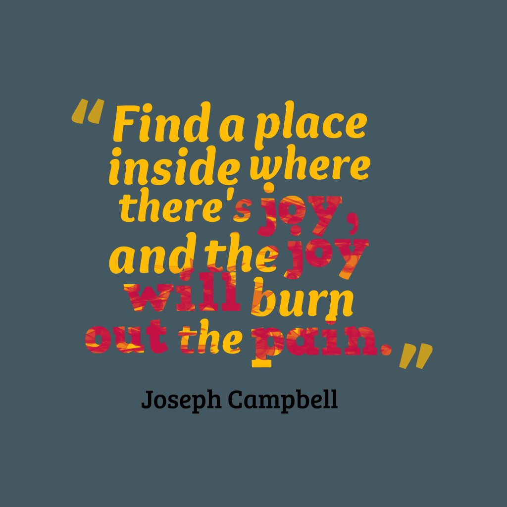 Joseph Campbell quote about inspirational.