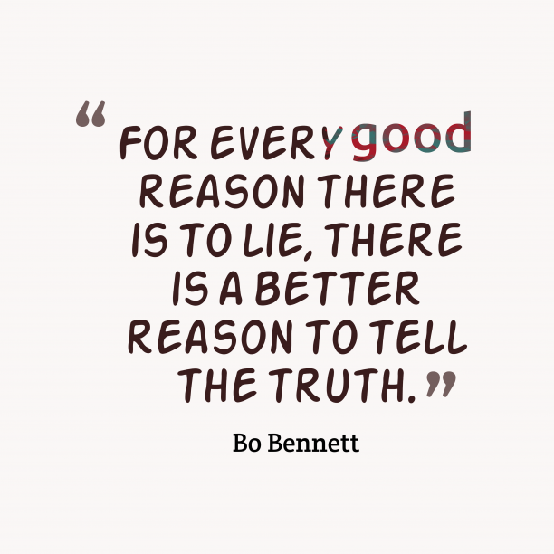 Bo Bennett quote about truth.