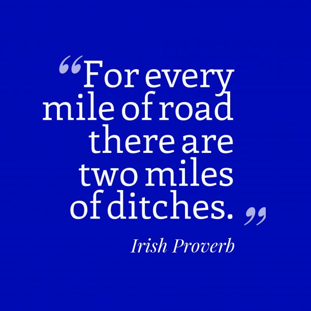 Irish wisdom about story.
