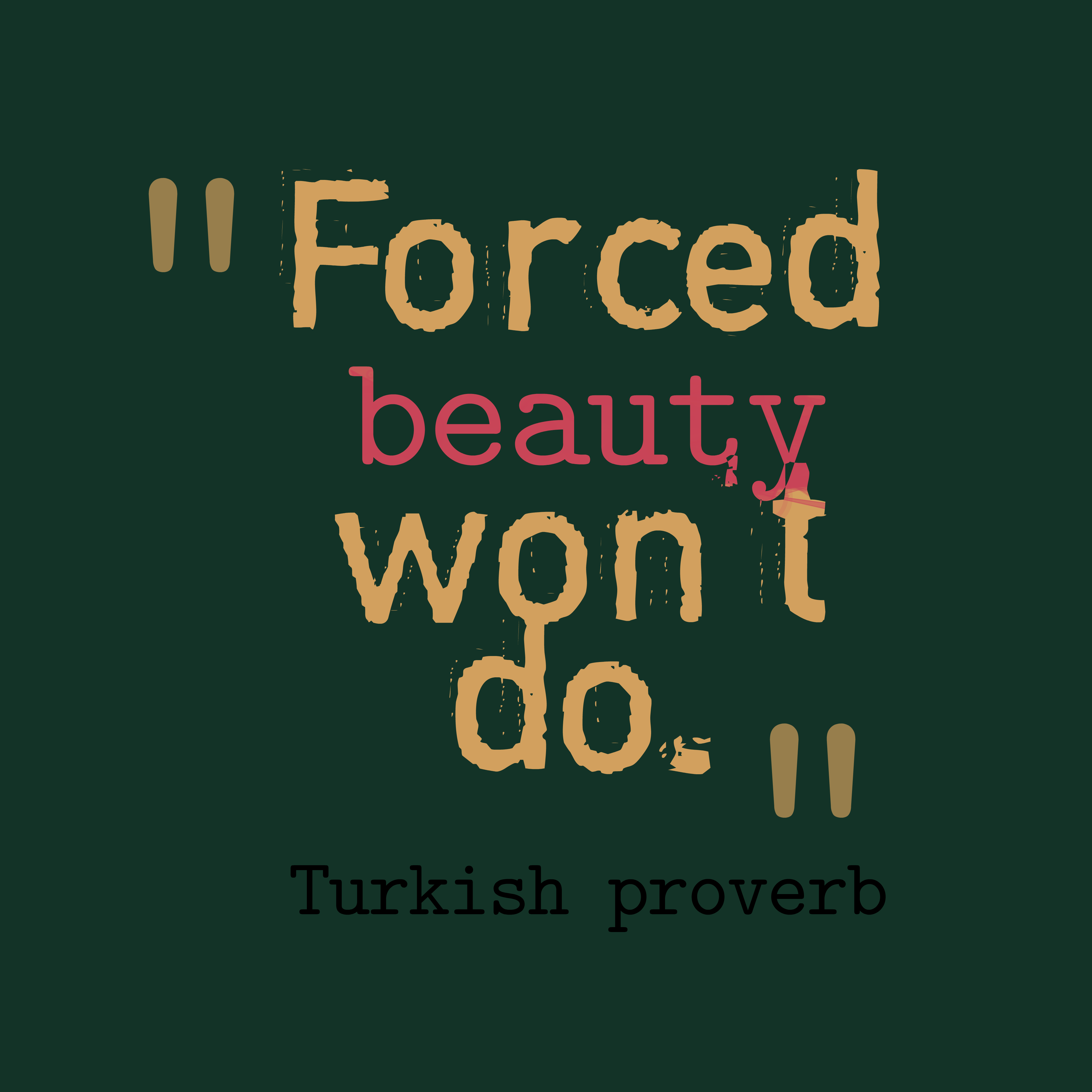 Turkish Wisdom About Beauty