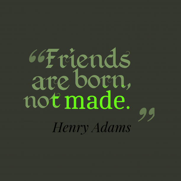 Henry Adams quote about friendship.