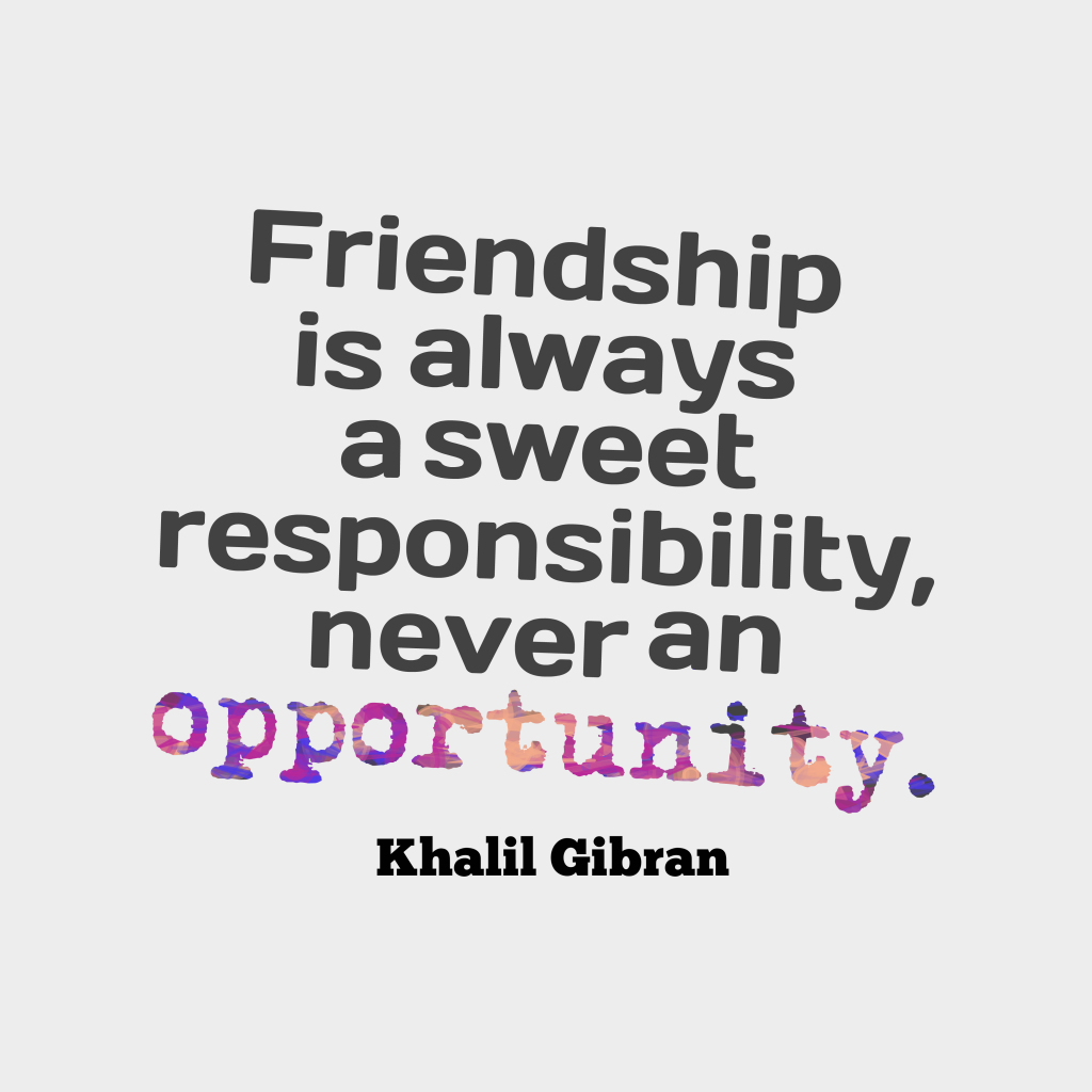an overview of the friendship in a poem by kahlil gibran Khalil gibran questions including what does khalil gibran poem love mean and by the us- arabic- lebanese poet kahlil gibran who summary is available at.
