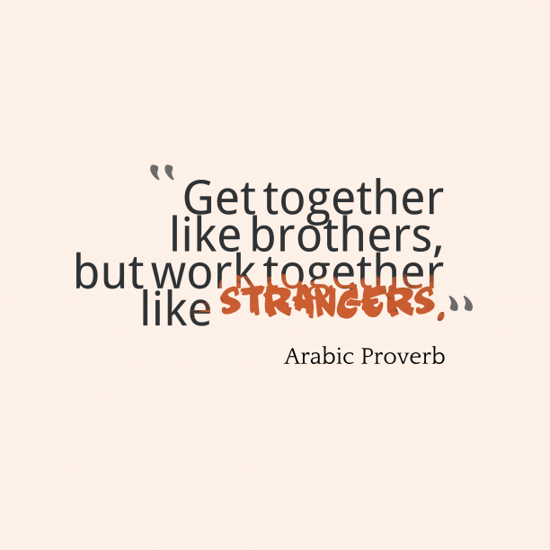Arabic wisdom about togetherness.
