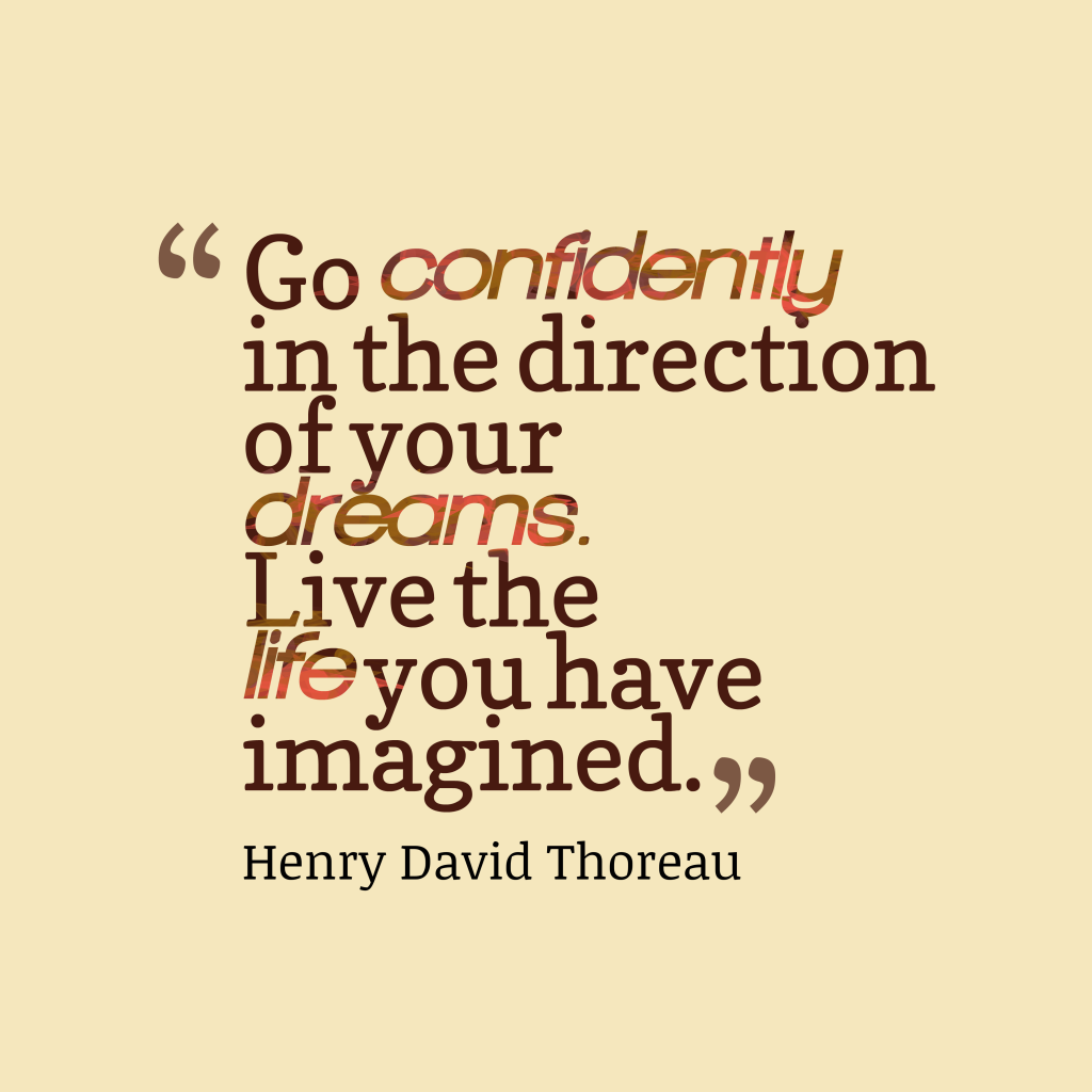 Henry David Thoreau quote about life.