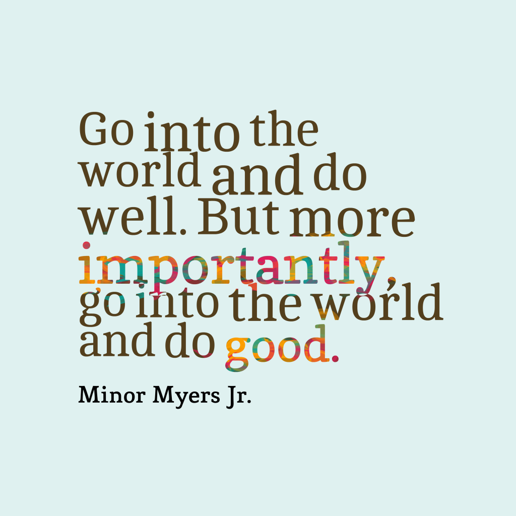 Quote About Volunteering Picture Minor Myers Jrquote About Volunteering Quotescover