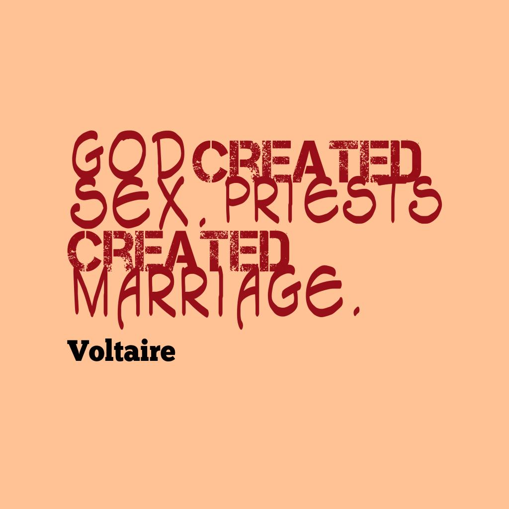 God created sex.