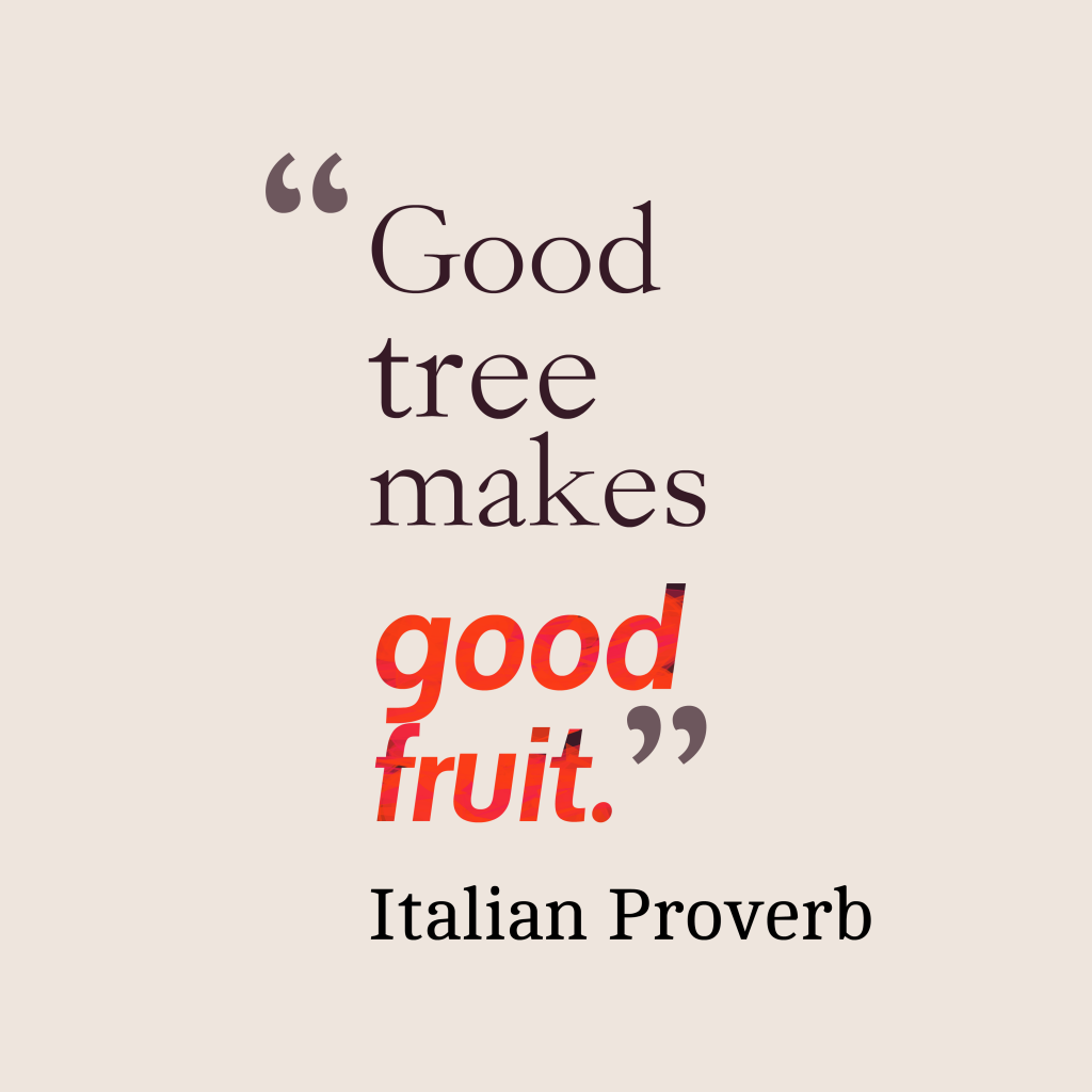 Italian proverb about parent.