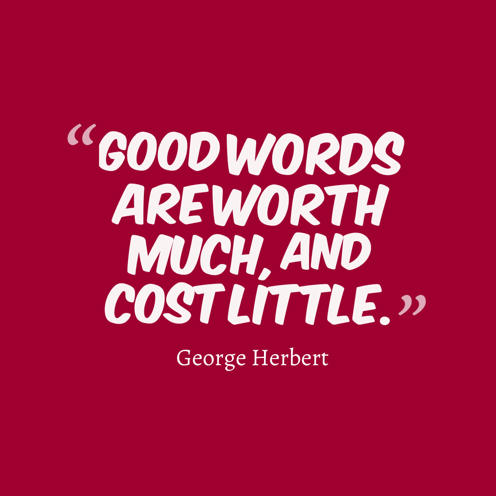 George Herbert quote about communication.