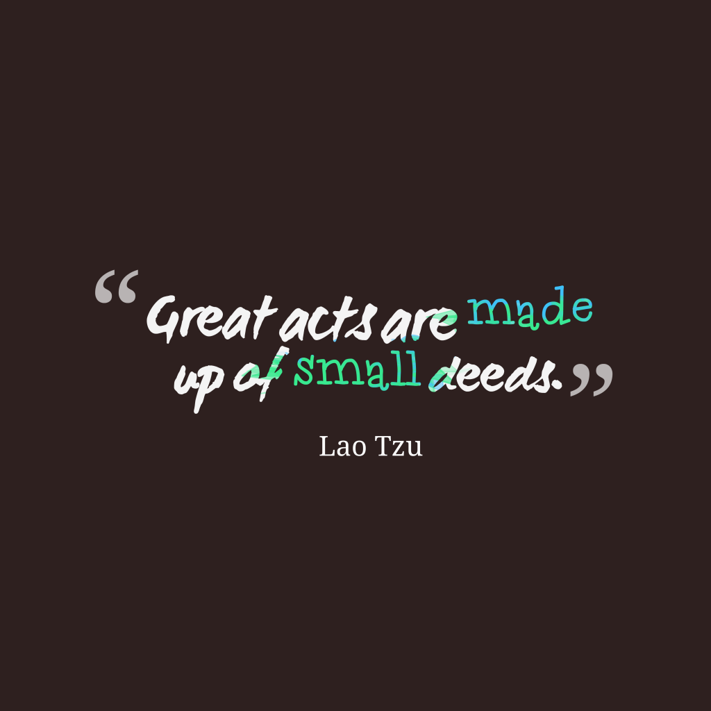 Lao Tzu quote about action.