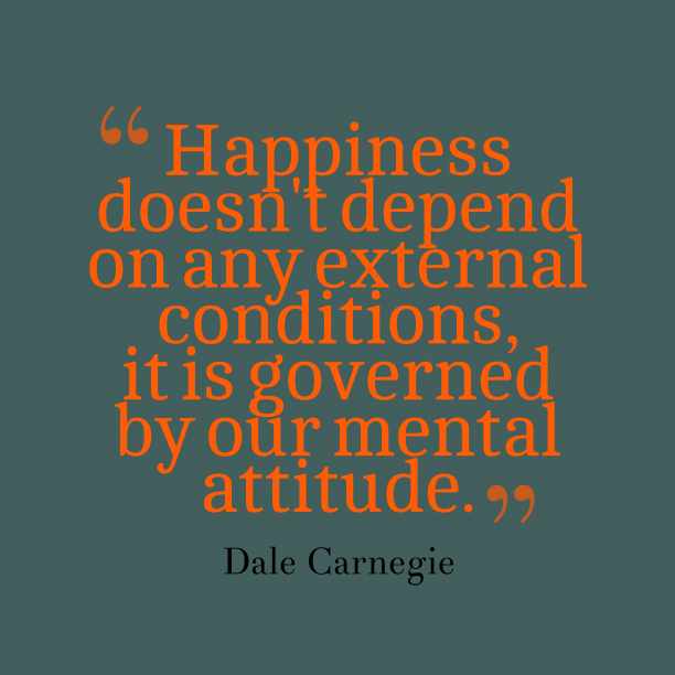 Dale Carnegie quotes about attitude