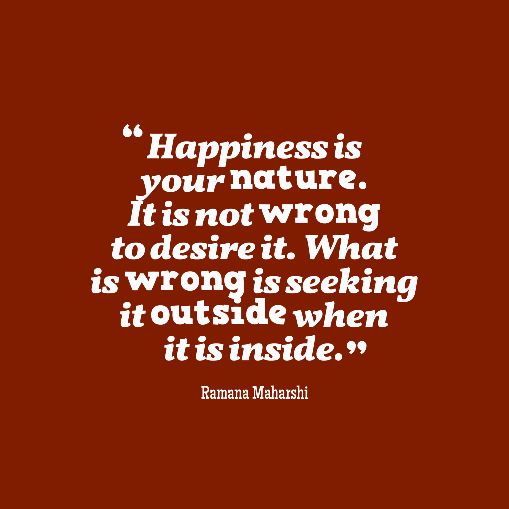 Ramana Maharshi quote about mindfulness.